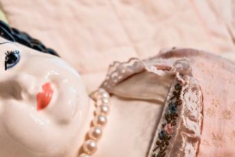 Vintage porcelain doll face