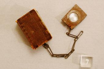 Bryce Bible with its own magnifying glass attached