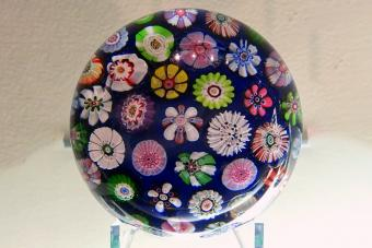 Paperweight by Cristallerie de Clichy, France, c. 1850, glass