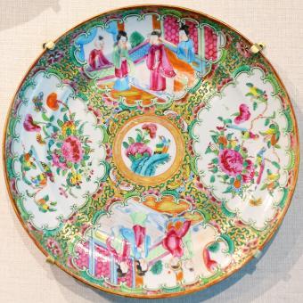 Rose medallion pattern porcelain