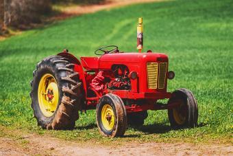 antique tractor