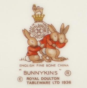 Royal Doulton Bunnykins tableware backstamp
