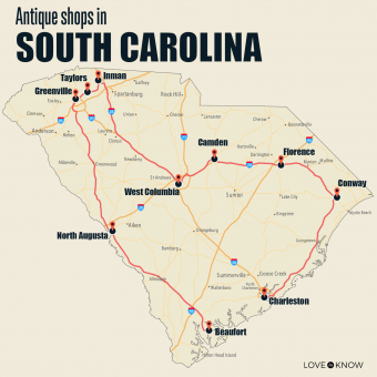 Antique shops in South Carolina
