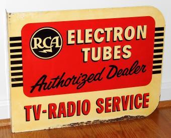 Vintage RCA Metal Adverting Sign