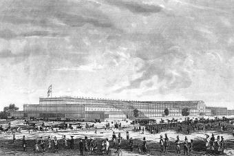 The Crystal Palace for Grand International Exhibition of 1851 in Hyde Park London
