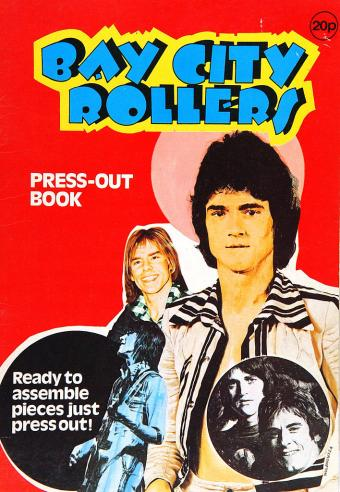 Bay City Rollers press-out book