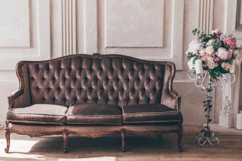 Vintage interior sofa