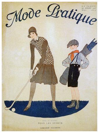 Mode Pratique, magazine cover, French, 28 July, 1928