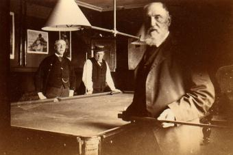 Frendly game of billiards