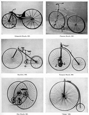 The evolution of the bicycle, 19th century,