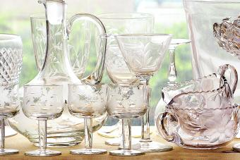 Depression Glass Stemware Brings History to the Table