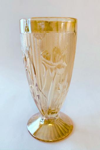 Jeanette Iris and Herringbone Carnival Glass