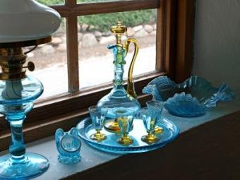 Learn the value of an an antique glass collection