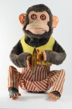 Monkey Playing Cymbals Vintage Toy