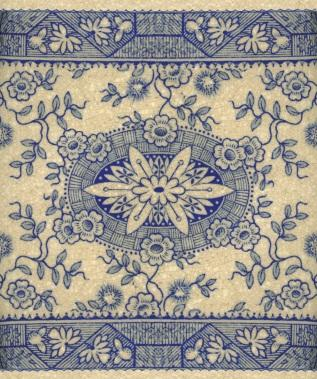 blue transferware pattern