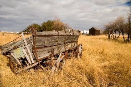 antique wooden wagon