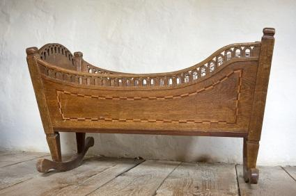 antique baby bed