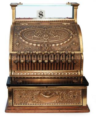 Old Fashioned Cash Register Replica