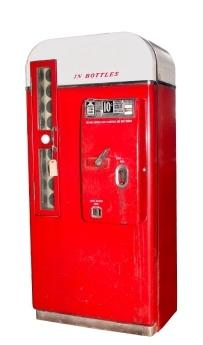 A vintage Coke machine
