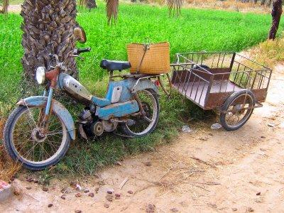 old motorized bicycle