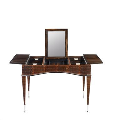 Ring Lizard Dressing Table – museum quality Art Deco reproduction by Pollaro Custom Furniture, Inc.