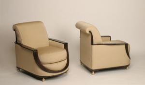 Axelson Club Chairs - museum quality reproduction by Pollaro Custom Furniture, Inc.