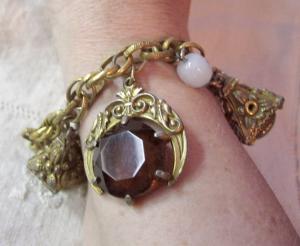 Vintage Art Deco Charm Bracelet