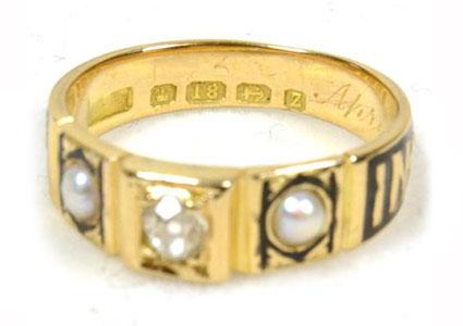 1899 Edgar Mourning Ring