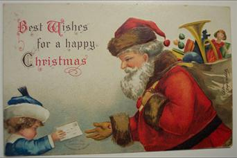 Ellen Clapsaddle Signed Christmas Postcard