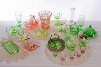 Collection of Depression glass & Antique Dish Values