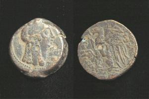Cleopatra I as Isis coin