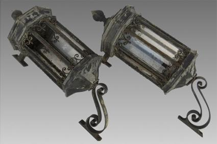 Galvanized Metal and Iron Exterior Building Lanterns