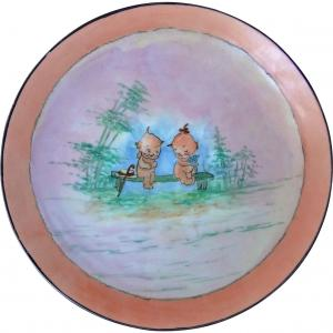 1911 - 1920's Signed Nippon Kewpie Babies Plate at Rubylane Fine Finds