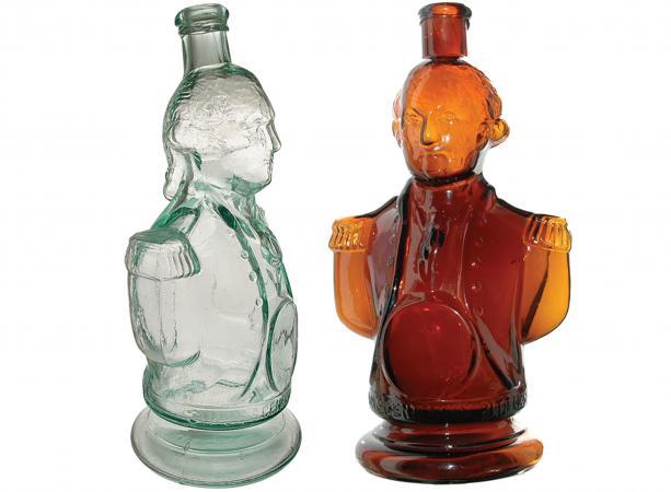 Washington bust bottle