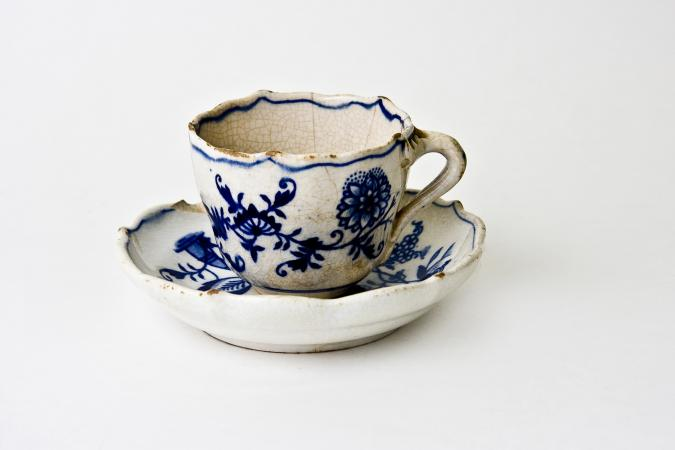 Antique Meissen cup and saucer