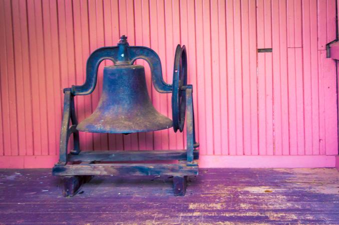 antique school bell