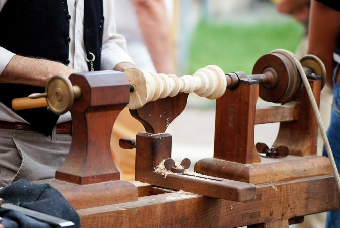 Antique wood lathe