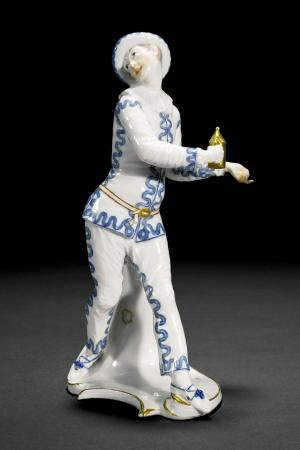 An Important Nymphenburg figure of Pierrot from the Commedia dell'arte