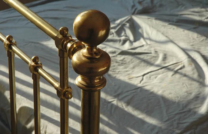 Antique brass bed rail