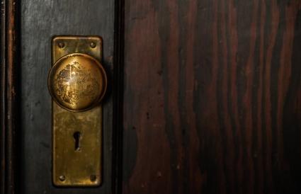 old brass door knob