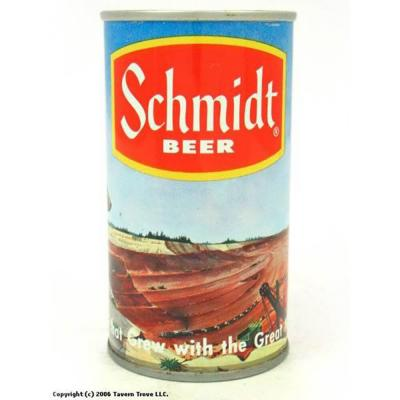 Schmidt beer can