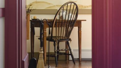 windsor chair at desk