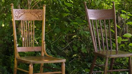 Antique pressbacked chairs