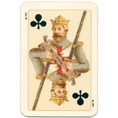 King of Clubs playing card Goodall 1895