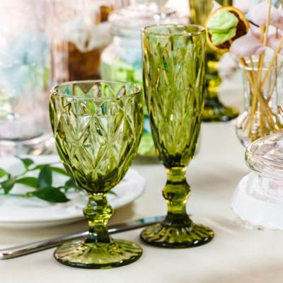 table decorated with vases