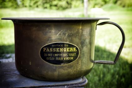 Antique copper potty