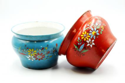 Chamber Pots With Flower Pattern