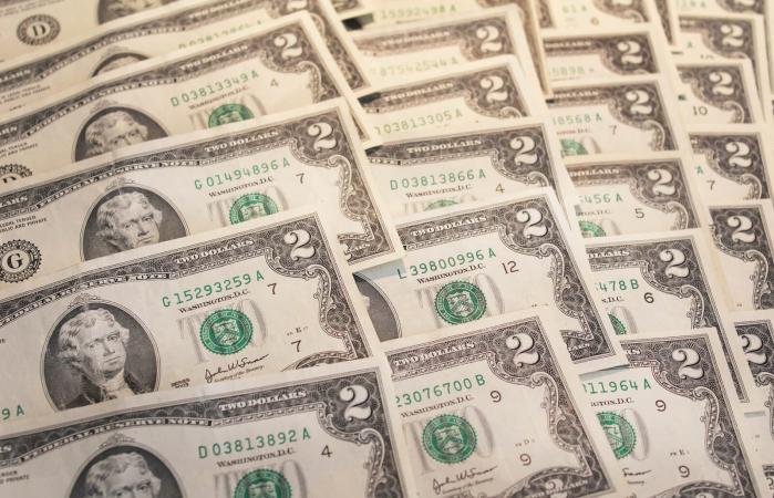 U.S. two dollar bills