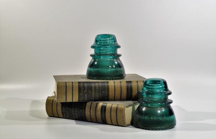 Hemingray 42 Insulators Blue Glass
