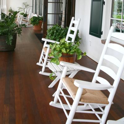 Ladderback wooden rocking chairs